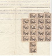 ITALIEN 1930 - 31 Unbekannte Marken Auf Firmenbrief RADIUM RÖNTGEN, Dokument Gefaltet - Steuermarken