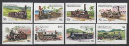 Grenada 1984 Mi 1325-1332 Locomotives / Lokomotiven **/MNH - Trains