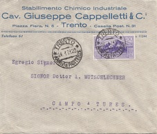 ITALIEN 1931 - 50 Centisimi Auf Firmenbrief CAV. GIUSEPPE CAPPELITTI &CO - 1900-44 Victor Emmanuel III.