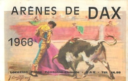 ARENES DE DAX 1966  CORRIDA VOIR TOUS LES SCANS - Tickets - Vouchers