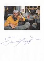ERNST FUCHS - Autogrammkarte Mit Orig. Autogramm - Autogramme & Autographen