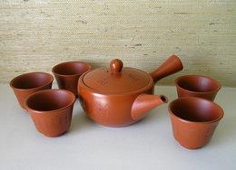 Vintage Japanese Spout Tea Pot And 5 Cups - Asian Art
