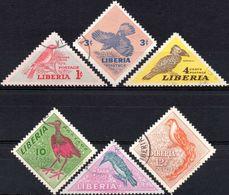 LIBERIA 1953 - FAUNA, UCCELLI - SERIE COMPLETA USATA - Liberia