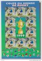 1999 France - IV Rugby World Cup 1999 - Rugby Ball Shape Stamps - Sheetlet Of 10 V -paper - MNH** Mi 3421/ YT 26 (vt34) - Rugby
