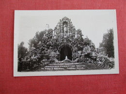 RPPC   St Angela Academy      Immaculate Conception  Grotto Carroll - Iowa   Ref 3007 - Altri