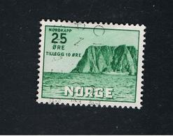 6. Mai 1957 5. Nordkapausgabe Michel 408 Gestempelt O - Norwegen