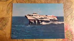 "Hovercraft SHIP ""Kometa-M"" OLD USSR Postcard  1960s - Novorossiisk Steamship Company - Hydrofoil - Schiffe"