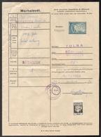 1943 Hungary - REVENUE Tax - Animal Passport / DOG Sheep Shepherd / Bátaszék + SPORT Charity Vignette Label Cinderella - Fiscaux