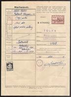 1942 Hungary - REVENUE Tax - Animal Passport / PIG Shepherd / Bátaszék + SPORT Charity Vignette Label Cinderella - Fiscaux