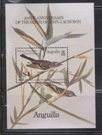 ANGUILLA Scott # 617  MNH - Brown Bird Souvenir Sheet - Anguilla (1968-...)