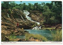 NIGERIA - GURARA FALLS, MINNA (PUBL. JOHN HINDE) / THEMATIC STAMP-YANKARI GAME RESERVE-ANIMALS - Nigeria