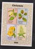 SAMOA Scott # 565A MNH - Flowers Souvenir Sheet - Samoa