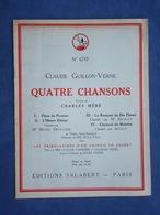 CAF CONC PIANO GF PARTITION CLAUDE GUILLON VERNE CHARLES MÉRÉ QUATRE CHANSONS TRIBULATIONS CHINOIS EN CHINE 1931 - Other
