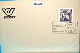 SH1030 RARITÄT ! - Letzter Tag Alter Stempel PHSt Leobendorf Post 2100 Korneuburg 31.5.1983 - Marcophilie - EMA (Empreintes Machines)