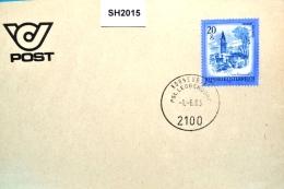 SH2015 RARITÄT ! - 1. Tag Neuer Stempel PHSt Leobendorf Post 2100 Korneuburg 1.6.1983 - Marcophilie - EMA (Empreintes Machines)