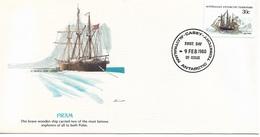 Australia Antarctic Territory FDC 1980 Ships FRAM !! - FDC