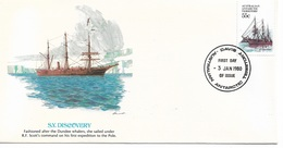 Australia Antarctic Territory FDC 1980 Ships S.Y. Discovery !! - FDC