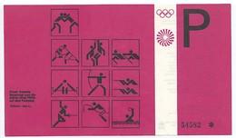 Parkplatzkarte Ticket München Olympia 1972 - Otl Aicher - Eintrittskarten