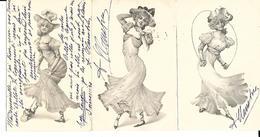 Serie 1988.  3 Cartes Jeune Fille . 1902 . - Illustrators & Photographers