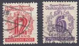 ALLEMAGNE - DEUTSCHLAND - GERMANIA -  SASSONIA OCCIDENTALE - 1945 - Yvert 22 E 25 Usati. - Zona Sovietica