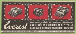 Lisboa - Mata-Borrão - Máquina De Escrever Everest - Buvard - Publicidade - Advertising - Typewriter - Sweden - Publicités