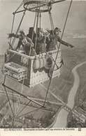 """/ CPA FRANCE 02 """"Environs De Soissons, Observation En Ballon"""" / MONTGOLFIERE - France"""