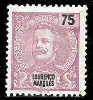 !■■■■■ds■■ L.Marques 1903 AF#73* Mouchon New Colors 75 Réis (x8134) - Lourenco Marques