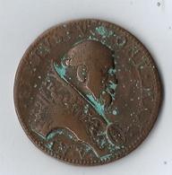 Monnaie Bronze VATICAN ET ÉTATS PONTIFICAUX Médaille Du Pape Sixte V 1589 - Vatican