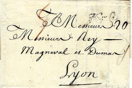 1763 - Lettre De NAPOLI  Pour Lyon - Taxes Dont 5 Rouge - Italie