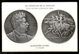 3TF 311  CPA - PARIS - LES MEDAILLES DE LA MONNAIE - ALEXANDRE DUMAS - Coins (pictures)