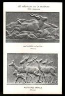 3TF 312  CPA - PARIS - LES MEDAILLES DE LA MONNAIE - ANTILOPES KOUDOU - ANTILOPES IMPALA - Coins (pictures)