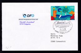 DEUTSCHE SCHIFFSPOST DFO FS DEUTSCHLAND 35 JAHRE VOGELFLUGLINIE 31.5.98 + - Deutschland