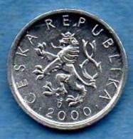 (r65)  CZECH REP / REP  TCHEQUE   10 Haléru 2000 - Czech Republic