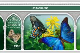 DJIBOUTI 2018 MNH** Butterflies Schmetterlinge Papillons S/S - OFFICIAL ISSUE - DH1825 - Schmetterlinge