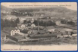 Epinal Manufacture De Chapeaux Kampmann 1906 (DEFAUTS VARIES Petite Coupure Bord Inf TTB TENUE ) Ti 1142) - Epinal