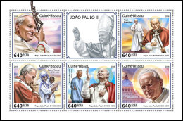 GUINEA BISSAU 2018 MNH** Mother Teresa Mutter Teresa Pope John Paul II. M/S - OFFICIAL ISSUE - DH1825 - Mère Teresa