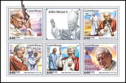GUINEA BISSAU 2018 MNH** Mother Teresa Mutter Teresa Pope John Paul II. M/S - IMPERFORATED - DH1825 - Mère Teresa