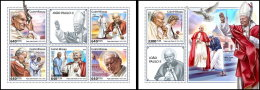 GUINEA BISSAU 2018 MNH** Mother Teresa Mutter Teresa Pope John Paul II. M/S+S/S - IMPERFORATED - DH1825 - Mère Teresa