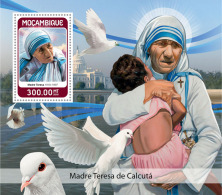 MOZAMBIQUE 2018 MNH** Mother Teresa Mutter Teresa Mere Teresa S/S - IMPERFORATED - DH1825 - Mère Teresa