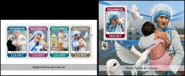 MOZAMBIQUE 2018 MNH** Mother Teresa Mutter Teresa Mere Teresa M/S+S/S - IMPERFORATED - DH1825 - Mother Teresa