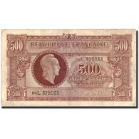 France, 500 Francs, 1943-1945 Marianne, 1945, Undated (1945), TTB - Tesoro