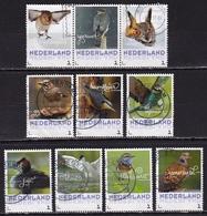 2017 Vogels 10 Verschillende Gestempelde Zegels W.o. Strip Van 3 - Periode 2013-... (Willem-Alexander)