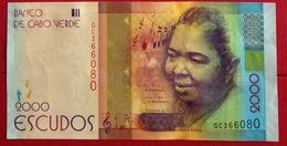 # CAP VERT (Cape Verde) 2000 Escudos [Cesária Évora] 5/7/2014 UNC - Cabo Verde