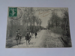 Forêt De COUCY-BASSE : Chasse à Courre , Rond D'Orléans ,départ Pour La Chasse - France