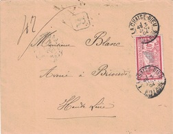 HAUTE LOIRE - LA CHAISE-DIEU - MERSON 40c SEUL SUR LETTRE RECOMMANDEE DU 3 JANVIER 1904. (P1) - Postmark Collection (Covers)