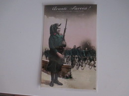 1941 Avanti SAVOIA Vis Animus Impetus BERSAGLIERI A Piedi In Bicicletta Viaggiata Affrancata - Uniforms