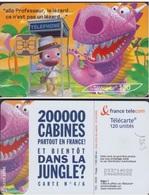 F1263  TELECARTE MOMENTS CRITIQUES  120 U  DANS La JUNGLE 2003/03 PUCE OB2 - France