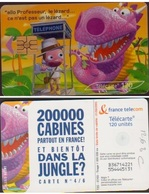 F1263C  TELECARTE MOMENTS CRITIQUES  120 U DANS La  JUNGLE 2003/07 PUCE GEM2 - France