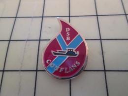 115e Pin's Pins : Rare Et Belle Qualité / BATEAUX : GROSSE PENICHE PAS PORTUGAISE DON DU SANG CONFLANS - Boats