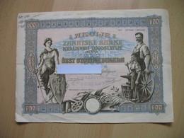 3 AKCIJE ZANATSKE BANKE KRALJEVINE JUGOSLAVIJE-600 DINARA,BEOGRAD-LJUBLJANA - Monnaies & Billets